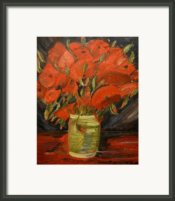 Red Velvet Framed Print By Louise Burkhardt