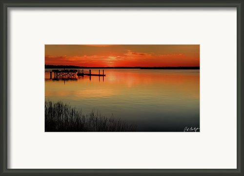 Red Water Framed Print By Phill  Doherty