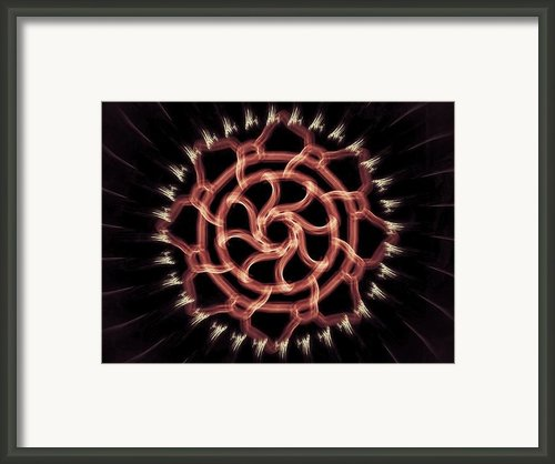 Red Wheel Framed Print By Michael Jordan