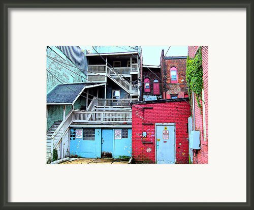 Red White And Blue Framed Print By Mj Olsen