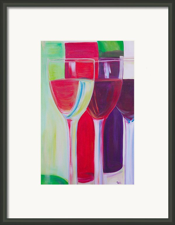 Red White And Blush Framed Print By Debi Pople