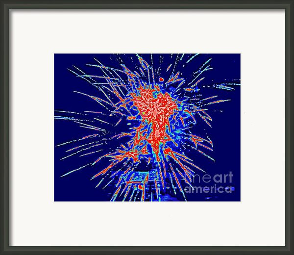 Red White Blue Framed Print By Shelia Kempf