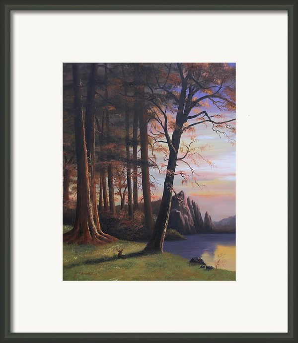 Red Wood Forest Ii Framed Print By Cecilia  Brendel