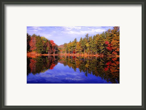 Reflected Autumn Lake Framed Print By William Carroll