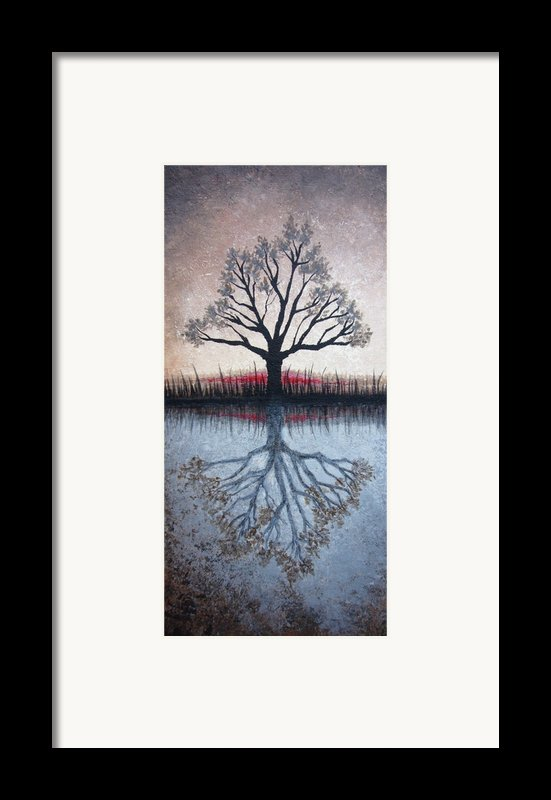 Reflecting Tree Framed Print By Janet King