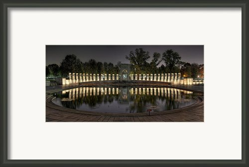 Reflections Of The Atlantic Theater Framed Print By Metro Dc Photography