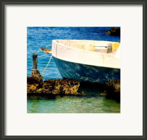 Reflective Bow Framed Print By Karen Wiles