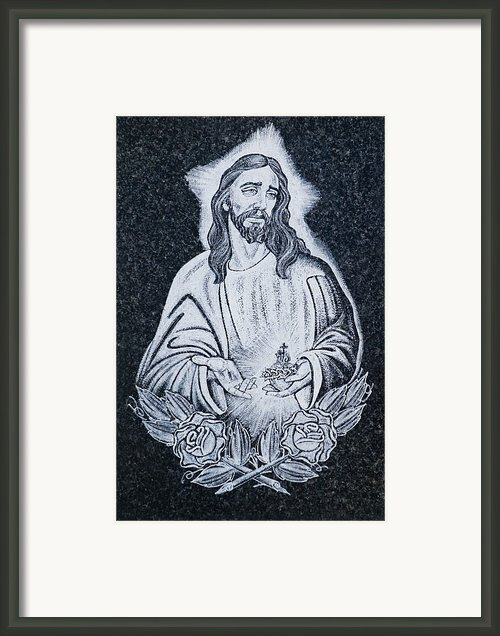 Religious Icons In Spanish Cemetery Framed Print By Michael Thornton
