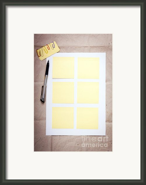 Reminder Notes Framed Print By Tim Hester
