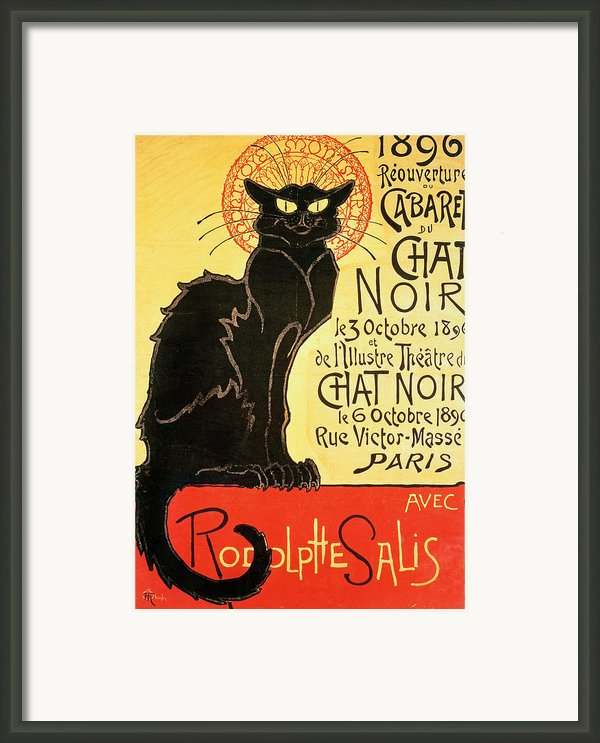 Reopening Of The Chat Noir Cabaret Framed Print By Theophile Alexandre Steinlen