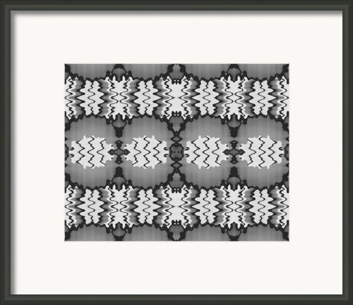 Repeating Wavy Line Illustration Framed Print By Steven Jones