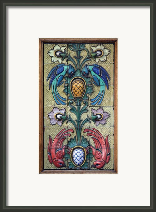 Restaurant Ceramic Birds Framed Print By A Morddel