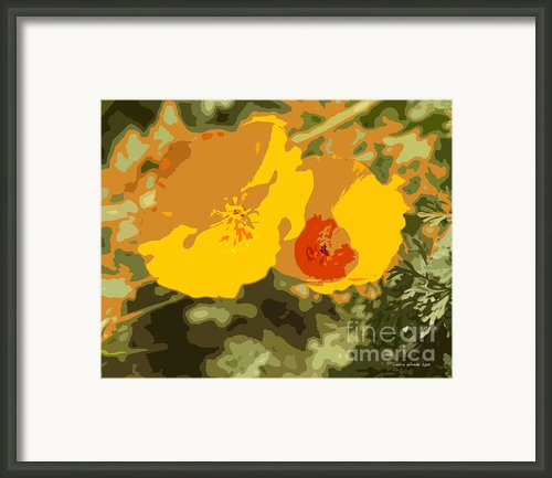 Retro Abstract Poppies 3 Framed Print By Author And Photographer Laura Wrede