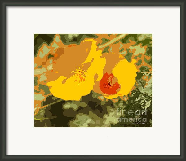 Retro Abstract Poppies 3 Framed Print By Artist And Photographer Laura Wrede