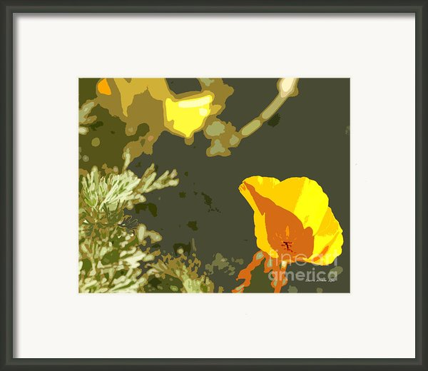 Retro Abstract Poppies 4 Framed Print By Author And Photographer Laura Wrede
