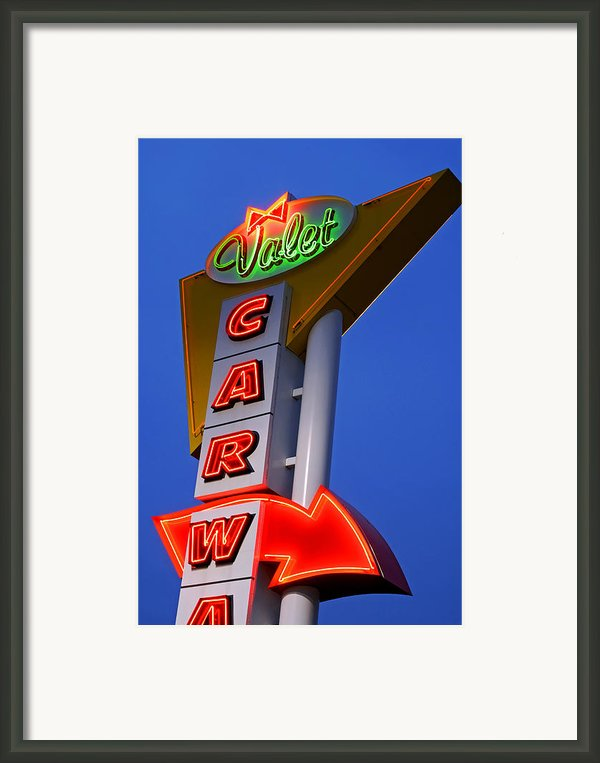 Retro Car Wash Sign Framed Print By Norman Pogson