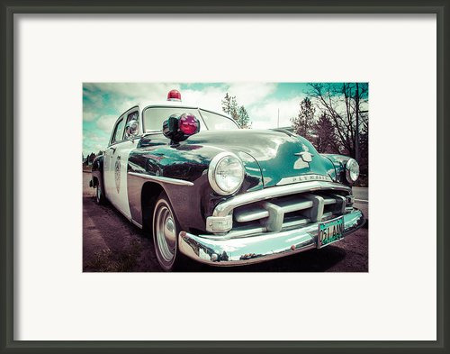 Retro Cop 2 Framed Print By Takeshi Okada