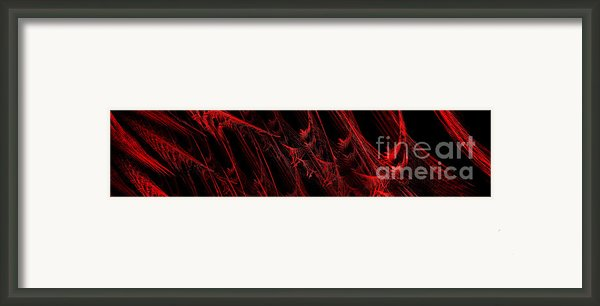 Rhapsody In Red H - Panorama - Abstract - Fractal Art Framed Print By Andee Photography