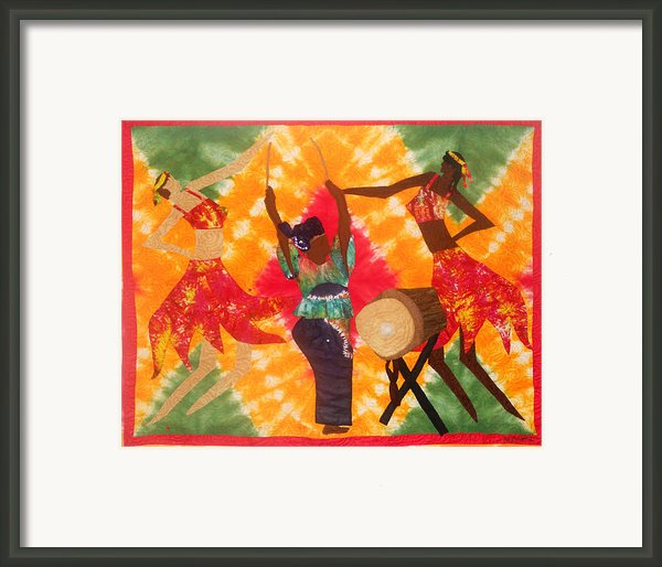 Rhythms Framed Print By Aisha Lumumba