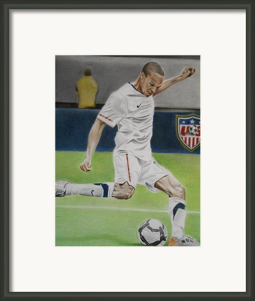 Ricardo Clark Usmnt Framed Print By Brian Broadway