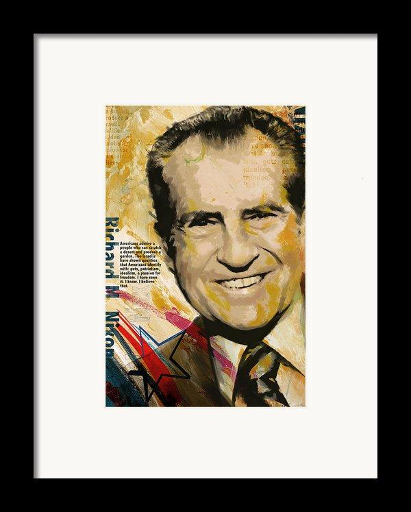 Richard Nixon Framed Print By Corporate Art Task Force
