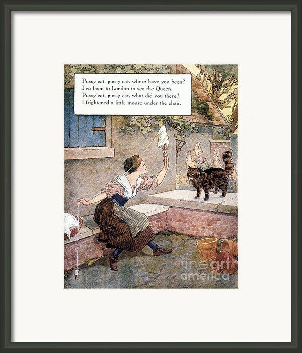 Richardson: Pussy Cat Framed Print By Granger