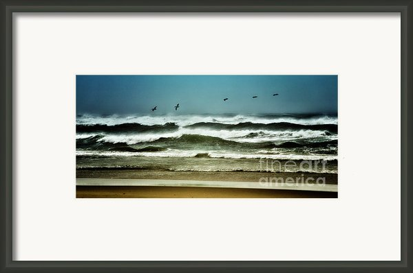 Riders On The Storm Ii - Outer Banks Framed Print By Dan Carmichael