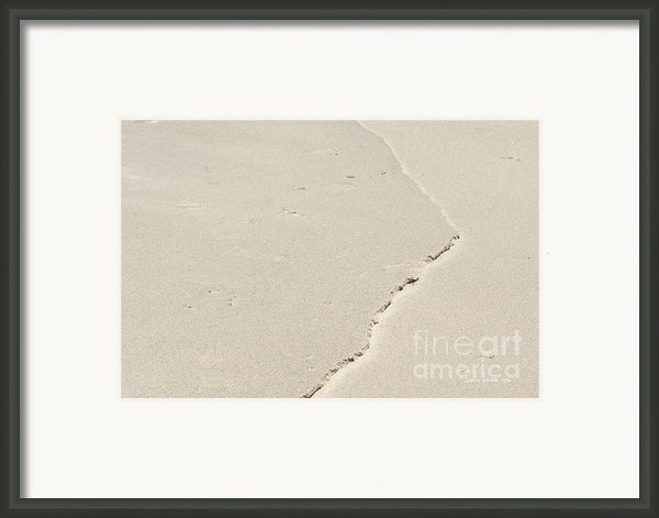 Ridge In The Sand At Big Sur Framed Print By Artist And Photographer Laura Wrede