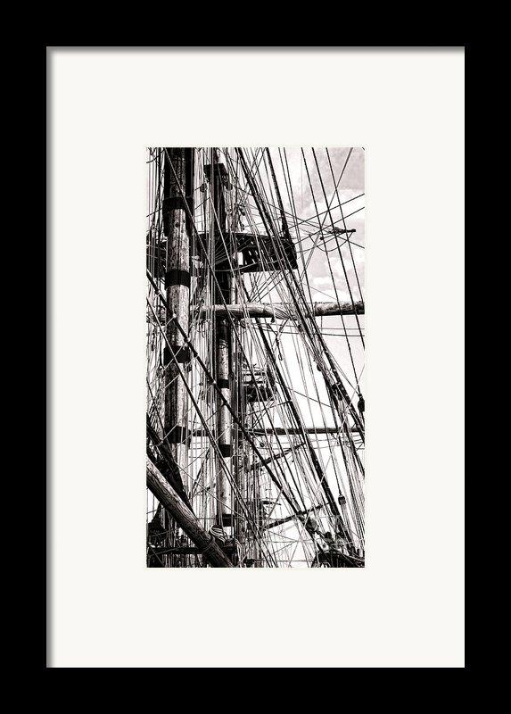 Rigging Framed Print By Olivier Le Queinec
