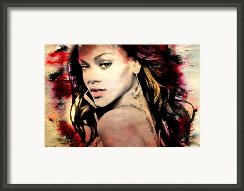 Rihanna Framed Print By Mark Ashkenazi