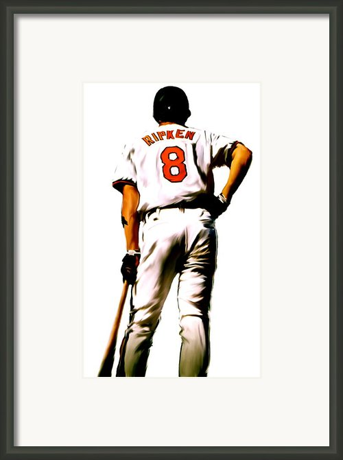 Ripken   Cal Ripken Jr Framed Print By Iconic Images Art Gallery David Pucciarelli