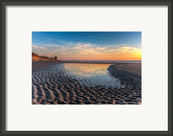 Ripples In The Sand Framed Print By Debra And Dave Vanderlaan
