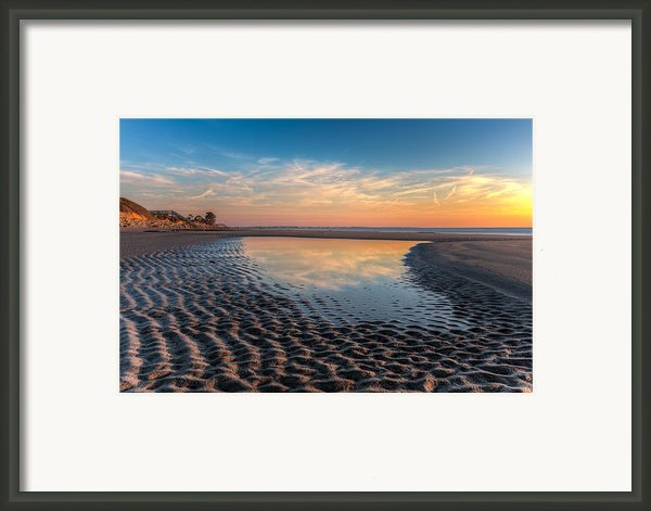Ripples In The Sand Framed Print By Debra And Dave Vanderlaan