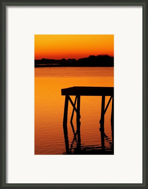 Ripples Of Copper Framed Print By Karen Wiles