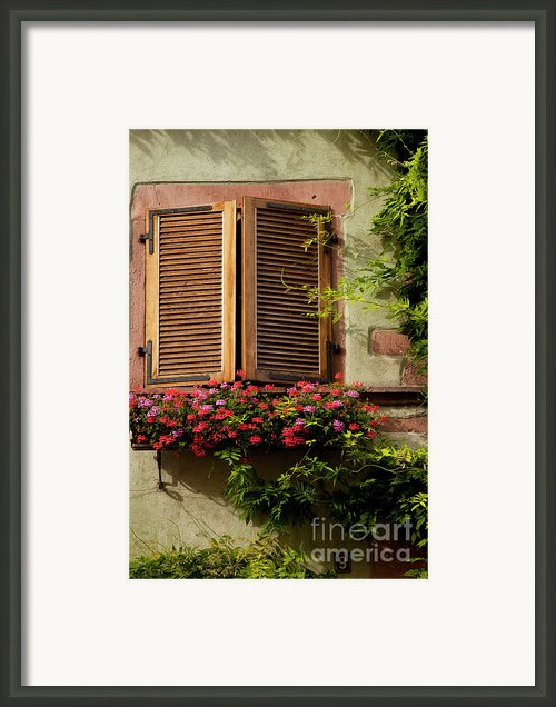 Riquewihr Window Framed Print By Brian Jannsen