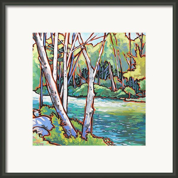 River 4 Framed Print By Nadi Spencer