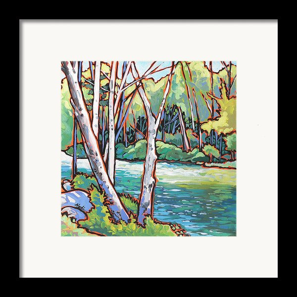 River 4 Framed Print By Nadi Spencer