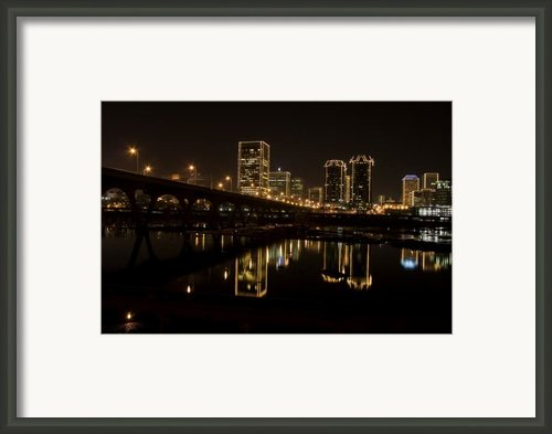 River City Lights At Night Framed Print By Tim Wilson