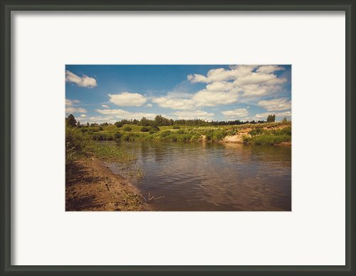 River Flows Framed Print By Jenny Rainbow