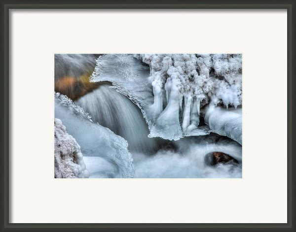 River Ice Framed Print By Chad Dutson