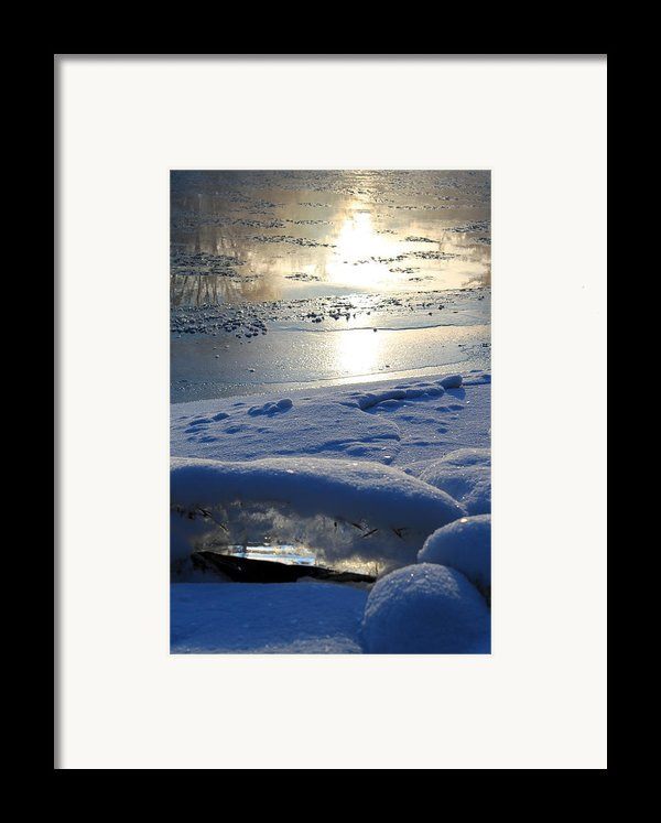 River Ice Framed Print By Hanne Lore Koehler