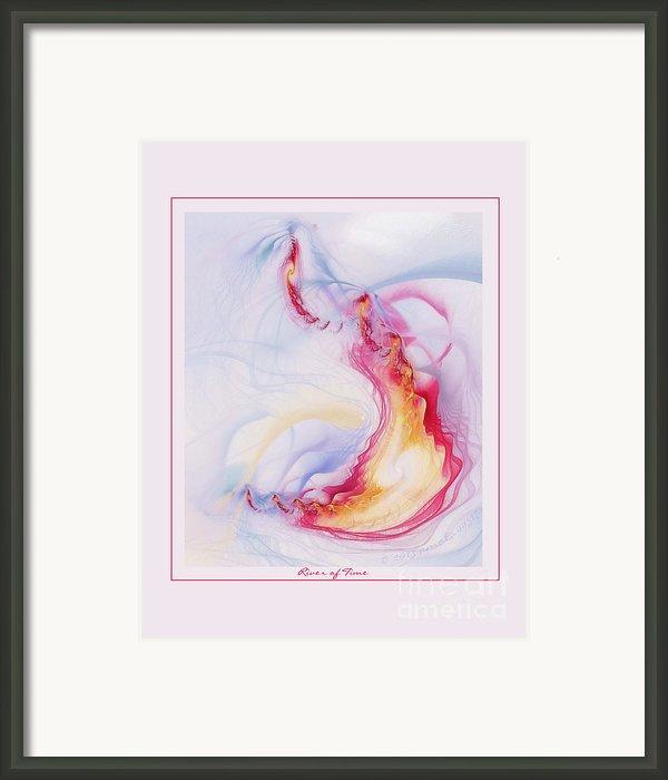River Of Time Framed Print By Gayle Odsather