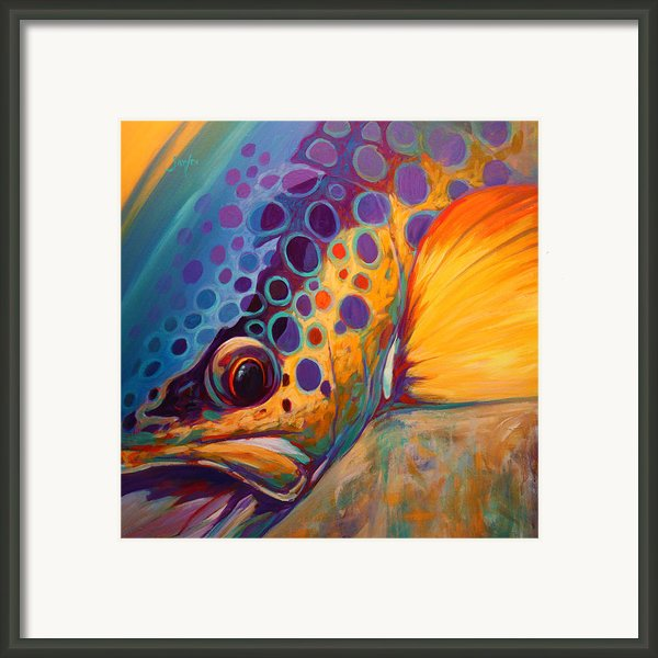 River Orchid - Brown Trout Framed Print By Mike Savlen