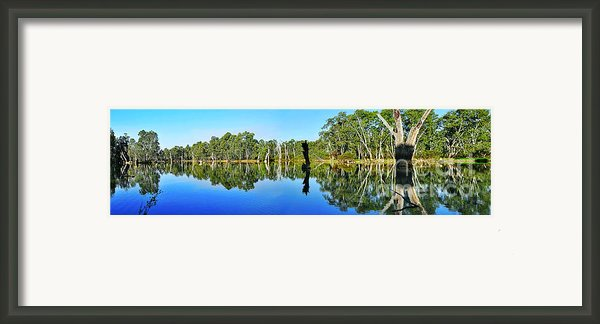 River Panorama And Reflections Framed Print By Kaye Menner