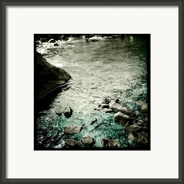 River Rocked Framed Print By Susan Maxwell Schmidt