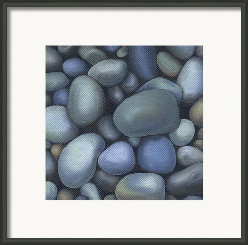 River Rocks Framed Print By Natasha Denger