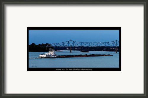 Riverboat Life Framed Print By David Lester