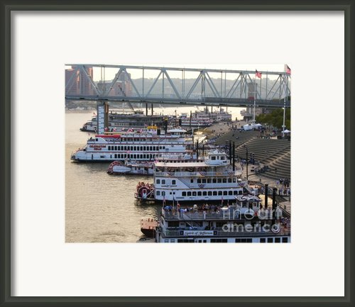 Riverboat Row Framed Print By Mel Steinhauer