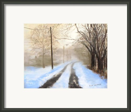 Road To The Ice House Framed Print By Jack Skinner