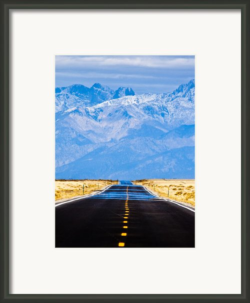 Road To The Mountains Framed Print By Alexis Birkill